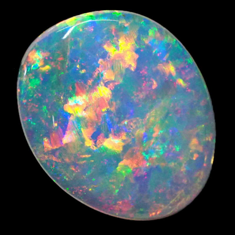 2.40CTS  COOBER PEDY SOLID OPAL GREAT COLOUR PLAY --S1509