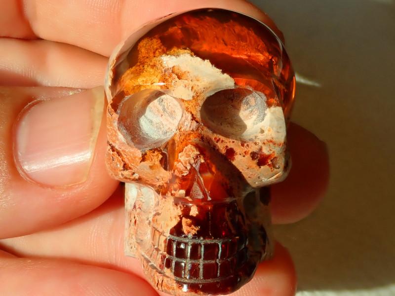 200ctct Skull Mexican Cantera Figurine Opal