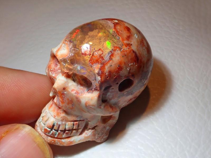 200ct Skull Mexican  Cantera Opal Figurine