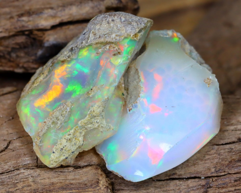 Welo Rough 13.48Ct Natural Ethiopian Play Of Color Facet Rough Opal F0307