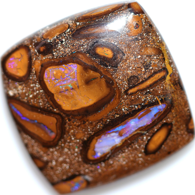 55.80 CTS YOWAH NUTS IN BISCUIT BAND.WELL POLISHED [BMA9624]