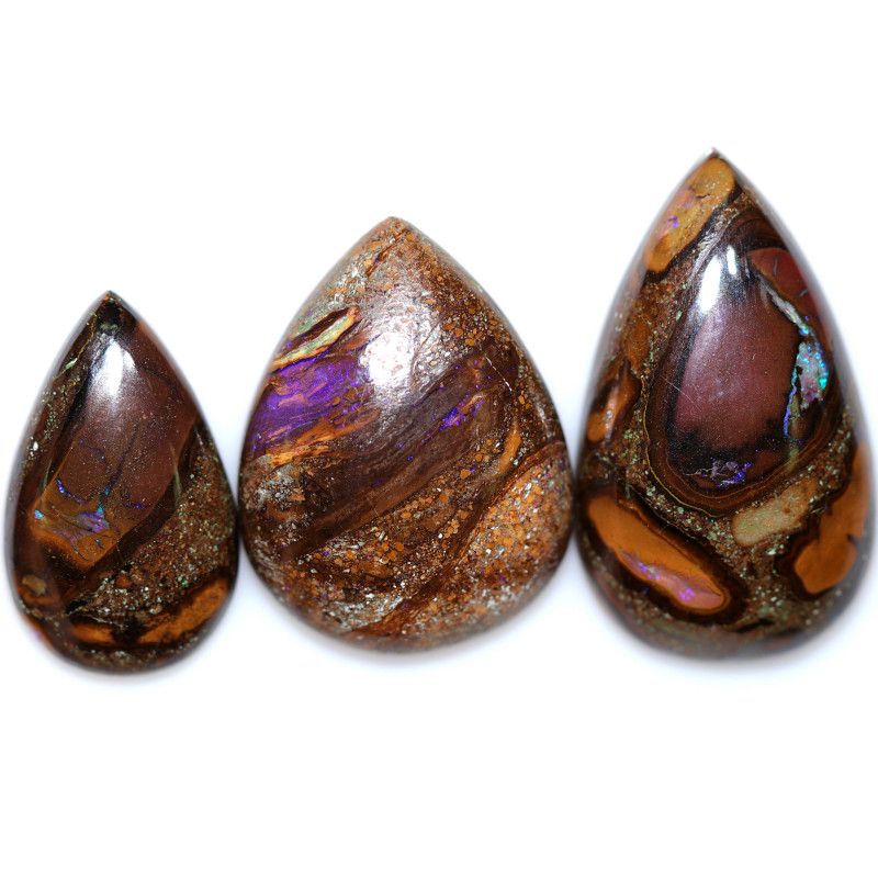 50.90 CTS YOWAH NUTS PARCEL IN BISCUIT BAND.WELL POLISHED [BMA9633]