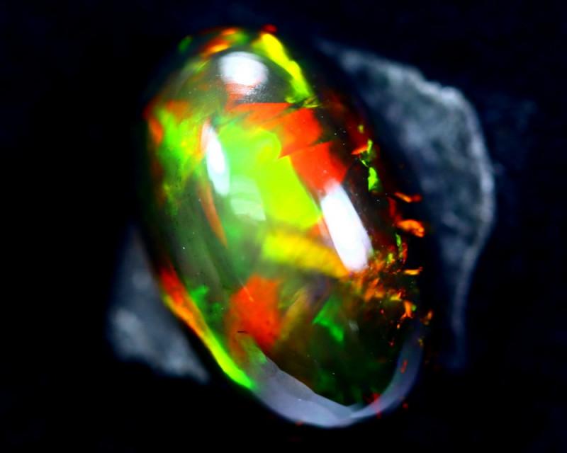 4.42cts Natural Ethiopian Smoked Black Opal / BF2193