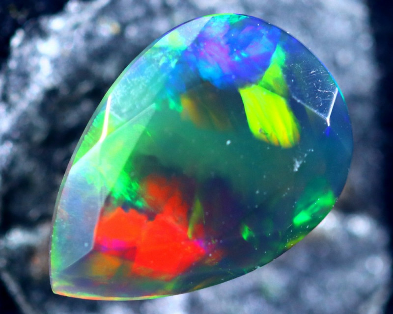 1.13cts Natural Ethiopian Smoked Faceted Opal / BF2202