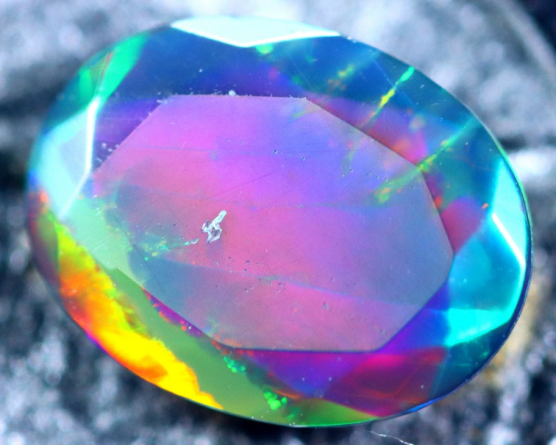 0.94cts Natural Ethiopian Smoked Faceted Opal / BF2204