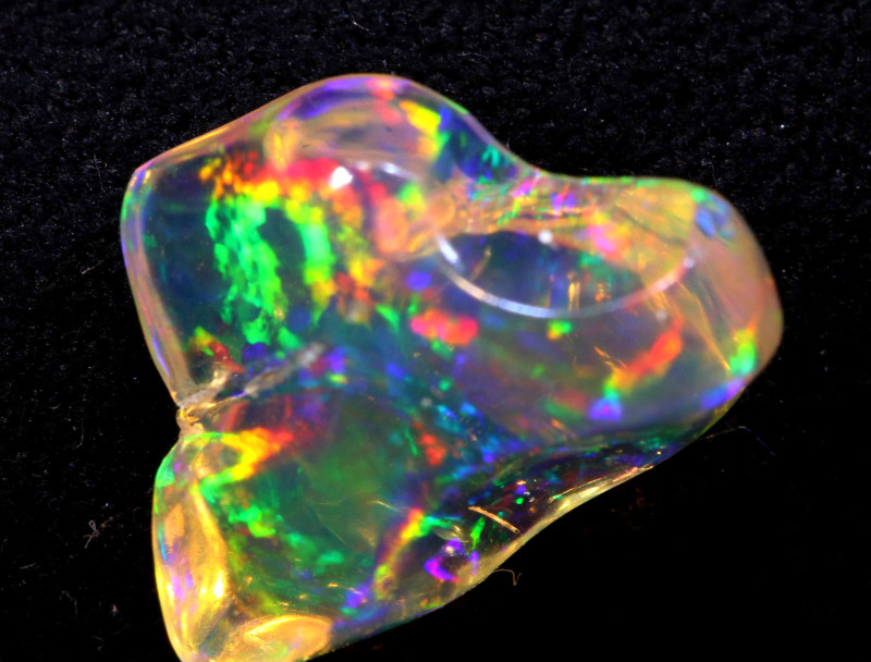 2 CTS MEXICAN FIRE OPAL   FOB -2289