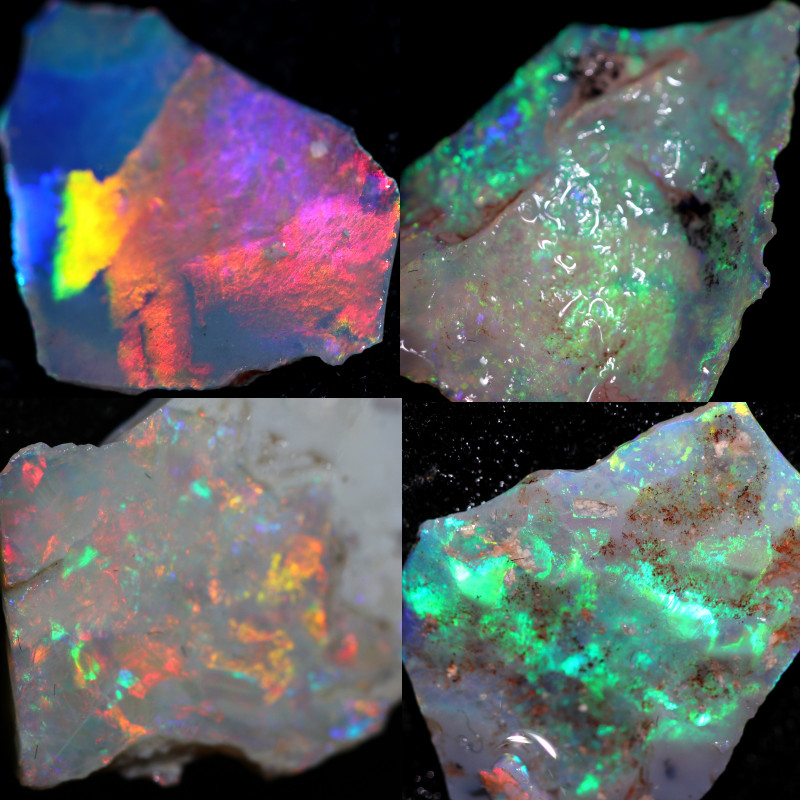 184.70 CTS CRYSTAL OPAL ROUGH FROM LIGHTNING RIDGE [BRP245]