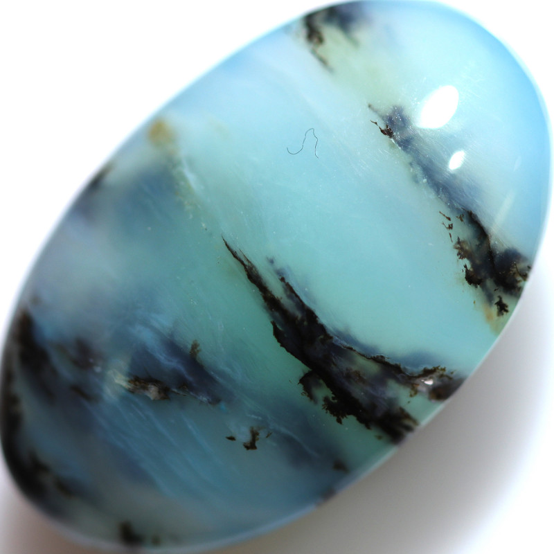 11.80 CTS GEM QUALITY  PERU OPAL POLISHED WITH INCLUSIONS [VS8055]