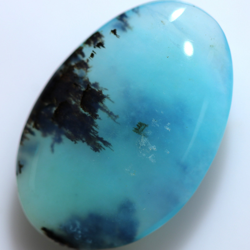 9.50 CTS GEM QUALITY  PERU OPAL POLISHED WITH INCLUSIONS [VS8056]