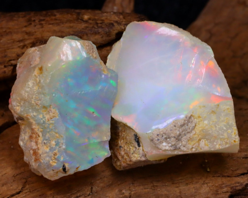 Welo Rough 14.64Ct Natural Ethiopian Play Of Color Rough Opal D0511