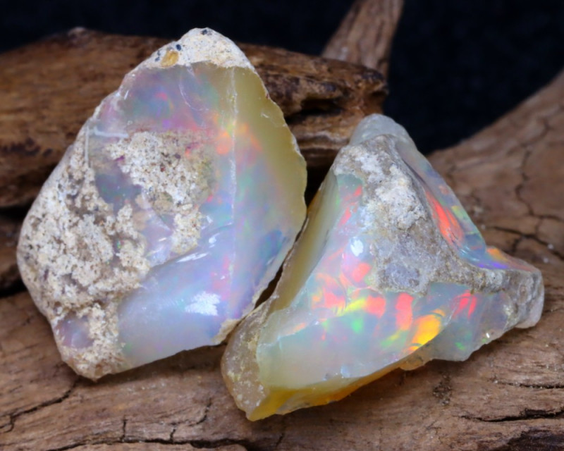 Welo Rough 13.30Ct Natural Ethiopian Play Of Color Facet Rough Opal F0502