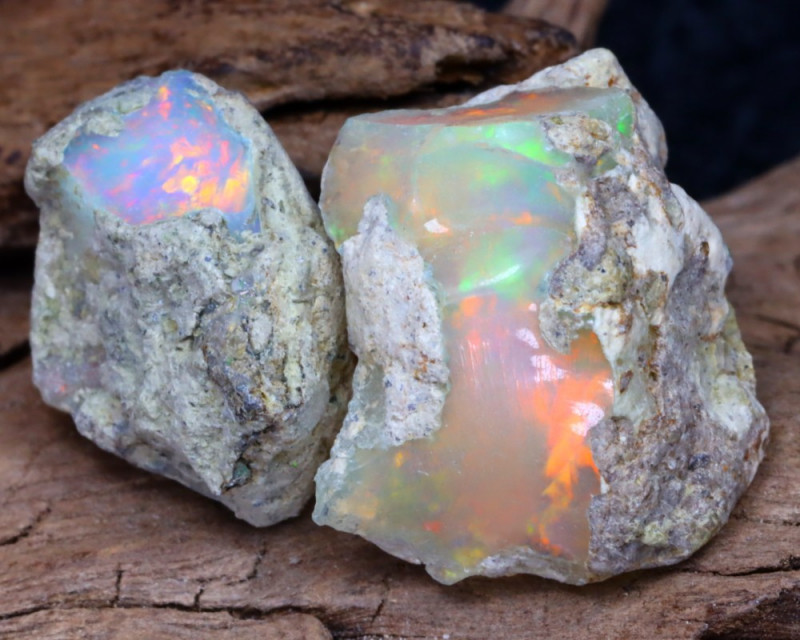 Welo Rough 15.58Ct Natural Ethiopian Play Of Color Facet Rough Opal F0506