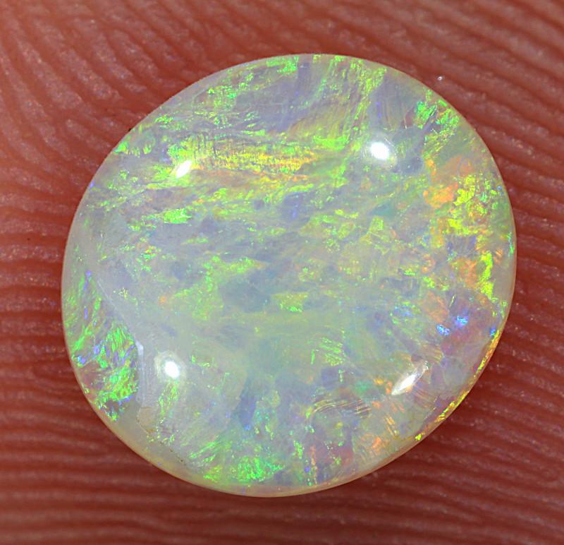 0.95ct 8.5x7.7mm Solid Lightning Ridge Crystal Opal [LO-2404]
