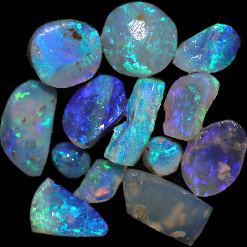 39.50 CTS CRYSTAL OPAL ROUGH PARCEL LIGHTNING RIDGE [BR7552]