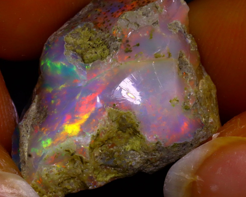Multi Color Play Ethiopian Welo Opal Rough