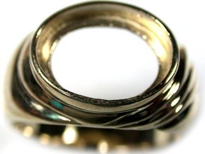 9K YELLOW GOLD RING POLISHED FINDING  SIZE 7 MC9