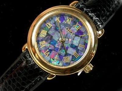 BEAUTIFUL LADIES OPAL WATCH LEATHER BAND  314L