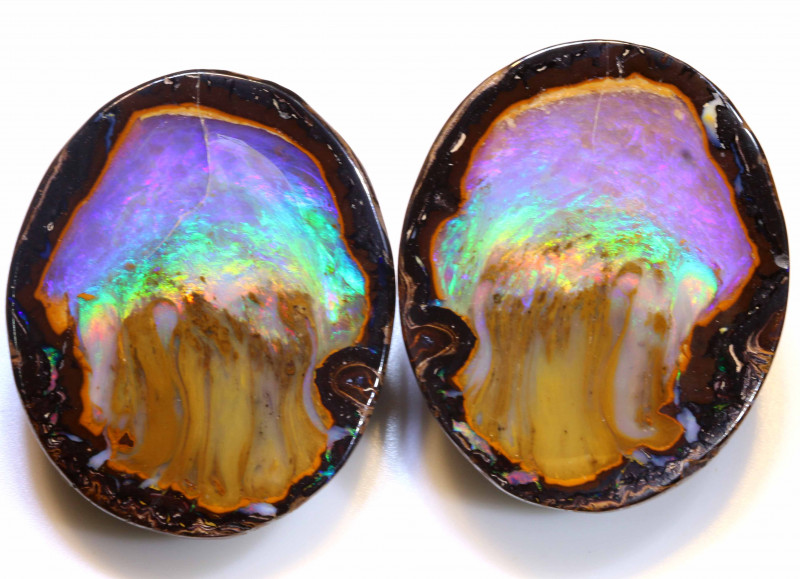 188.80 CTS YOWAH NUT JELLYFISH POLISHED SPLIT COLLECTOR  INV-1516