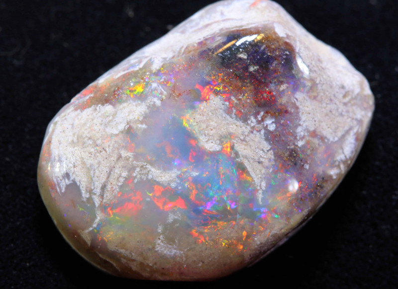 16.65 CTS   OPALISED FOSSIL CLAM SHELL   FO-1029