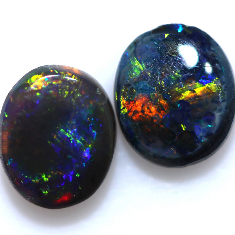 1.11 CTS BLACK OPAL PAIR FROM LIGHTNING RIDGE  [LRO1256]