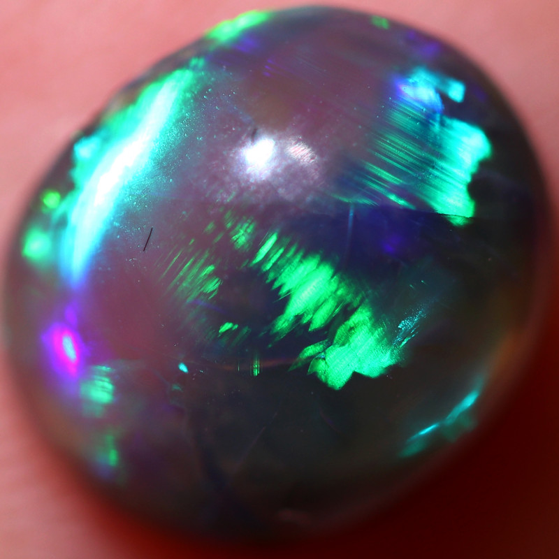 1.37 CTS  CRYSTAL OPAL STONE -ROLLING FLASH LIGHTING RIDGE[LRO1260]