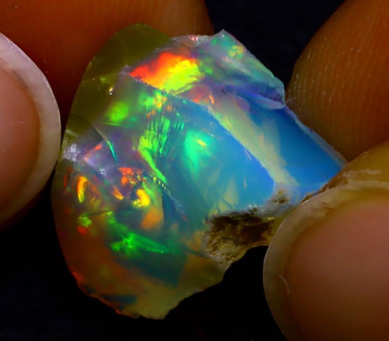 6.79Ct Multi Color Play Ethiopian Welo Opal Rough JN123/R2