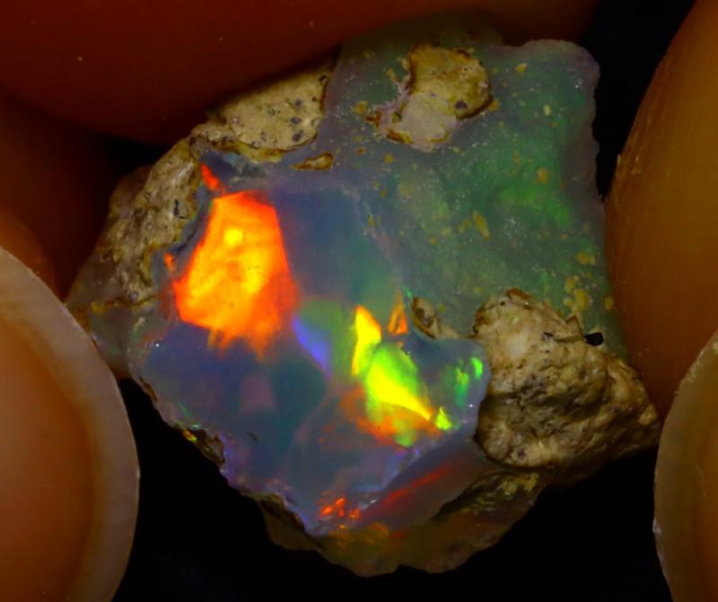 4.17Ct Multi Color Play Ethiopian Welo Opal Rough JN124/R2