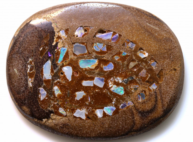 46 CTS BOULDER OPAL INLAY POLISHED STONE  ADO-4958