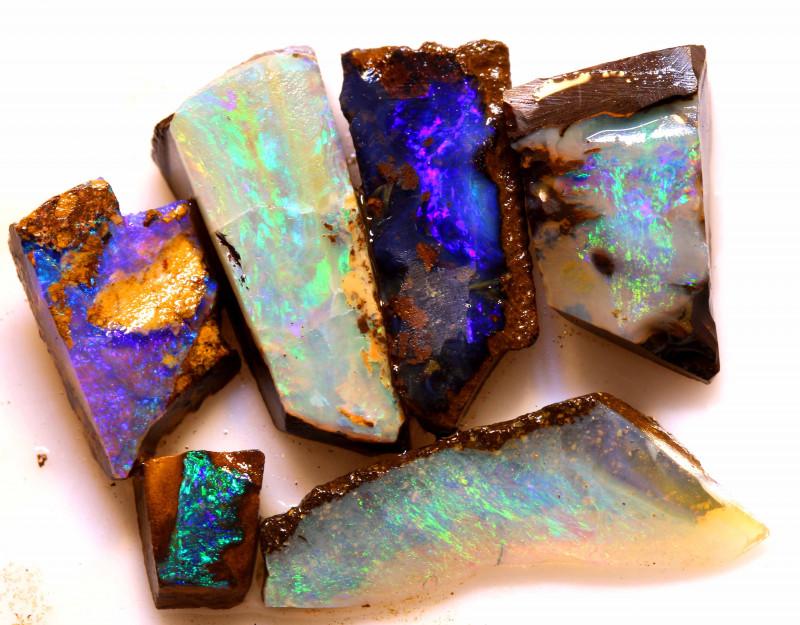 101.85cts Australian Boulder Opal Rough Parcel DOR-1