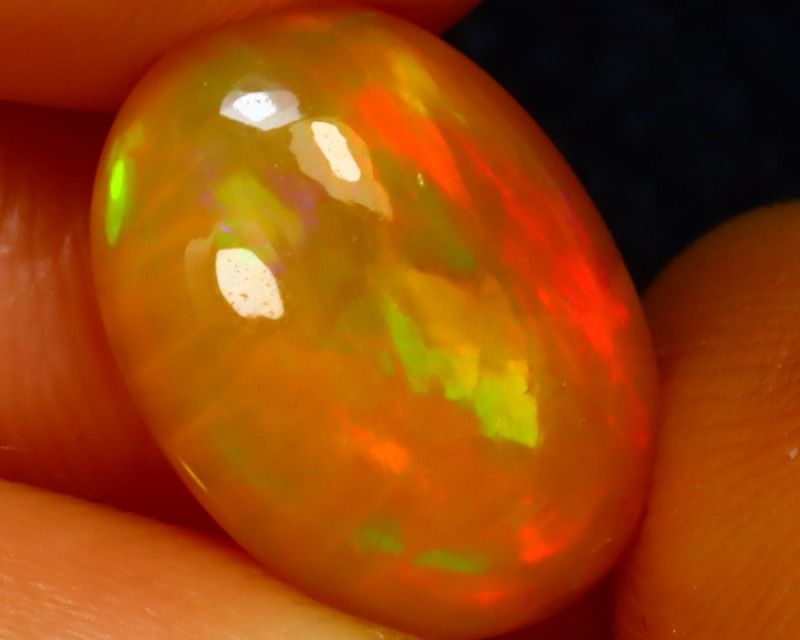 Welo Opal 2.61Ct Natural Ethiopian Play of Color Opal J2512/A44