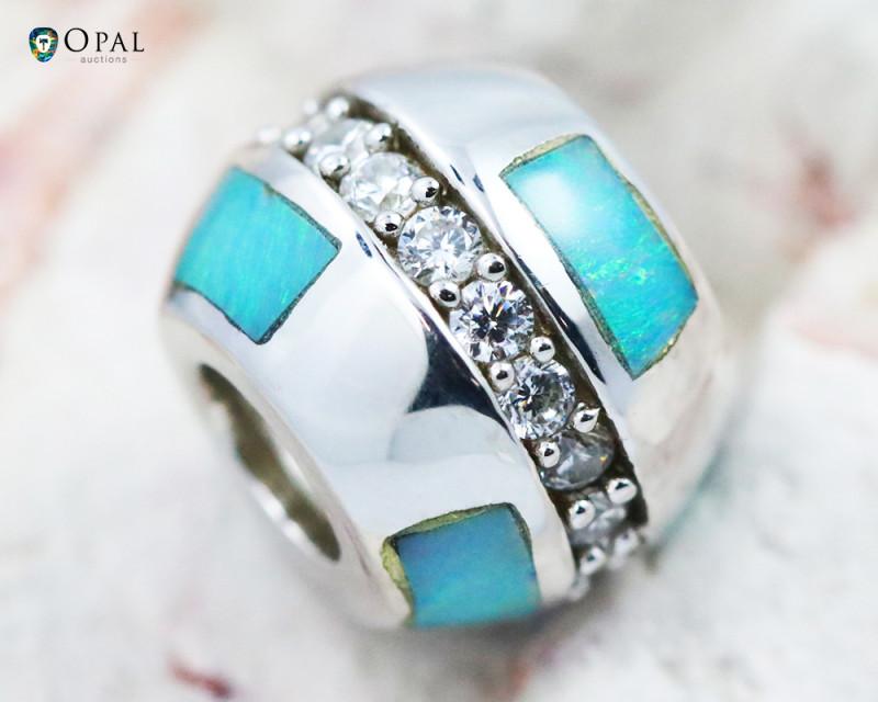 Fire Opal Bracelet Charm - CH310