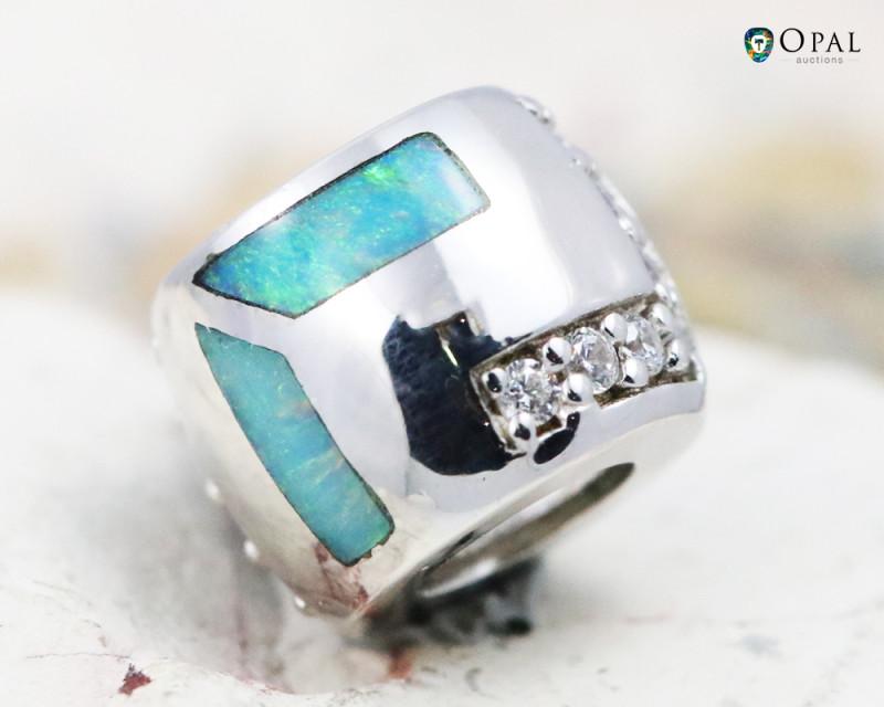 Fire Opal Bracelet Charm - CH313