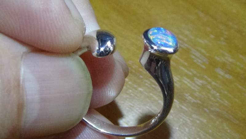 Opal Ring Size 7.25 Welo 925 Sterling Silver