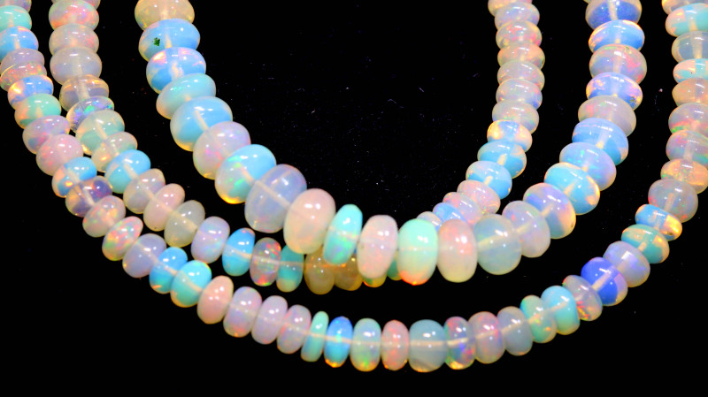 49 CTS   ETHIOPIAN OPAL BEADS STRAND   FOB- 2347