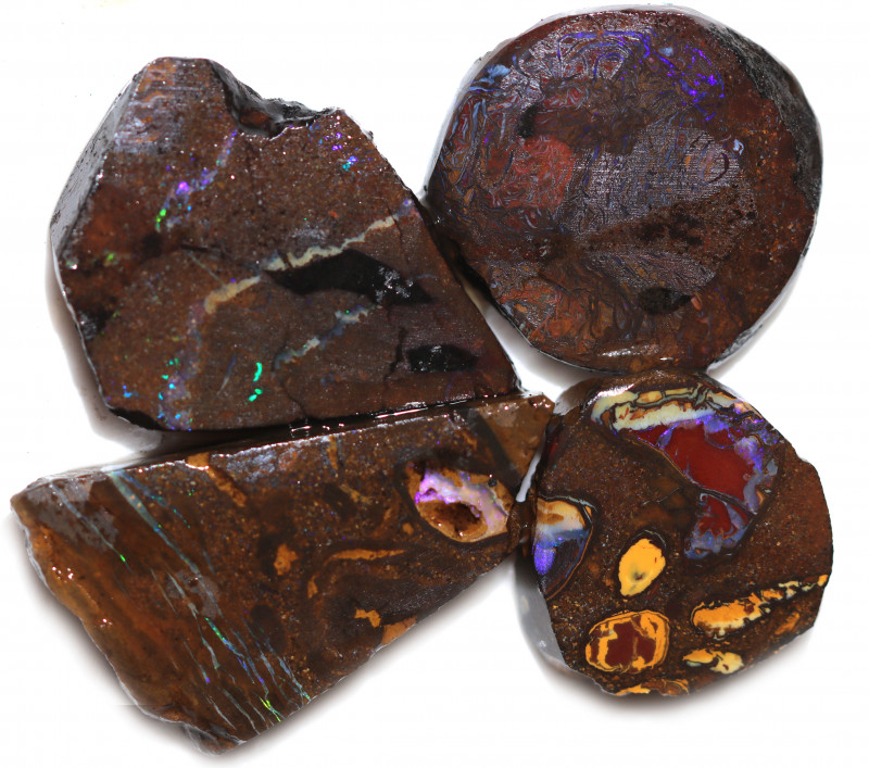 8 $ EACH CTS YOWAH OPAL NUTS IN MATRIX  ROUGH -TREATED[BY 9030]