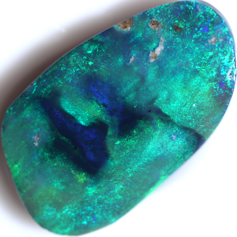 10.18 CTS BLACK OPAL RUBS PRE SHAPED/SAWN -PICTURE STONE [BR7681]