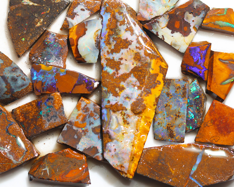 287 cts Parcel 20 Boulder Opals rubbed  By Opal Miner  code  CH 356