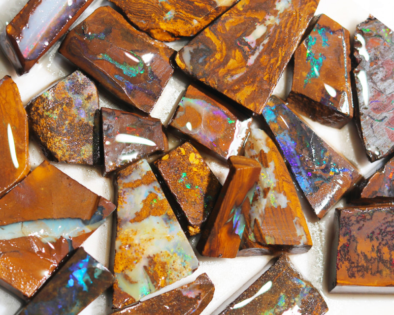 427 cts Parcel 20 Boulder Opals rubbed  By Opal Miner  code  CH 358