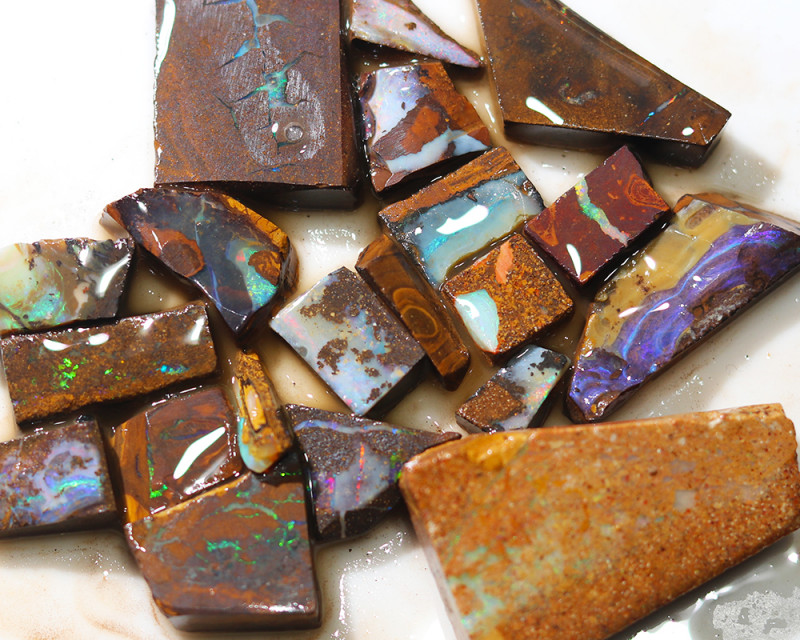 282 cts Parcel 20 Boulder Opals rubbed  By Opal Miner  code  CH 359