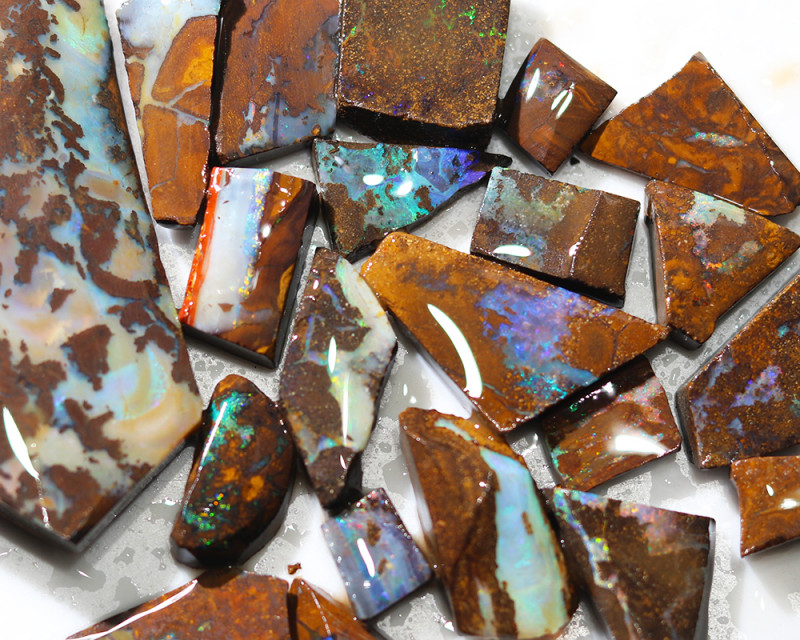 427 cts Parcel 20 Boulder Opals rubbed  By Opal Miner  code  CH 360