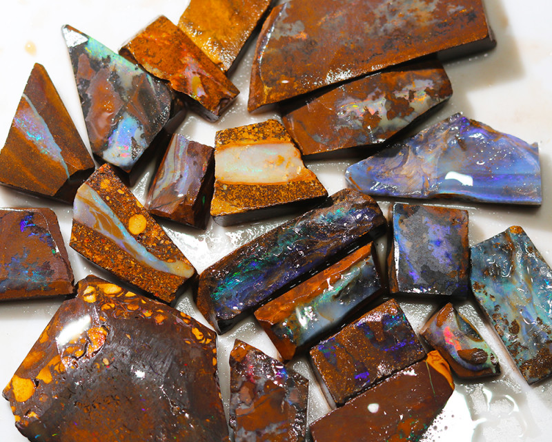 482 cts Parcel 20 Boulder Opals rubbed  By Opal Miner  code  CH 361