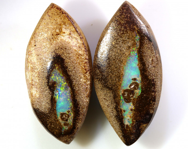 13.29 CTS BOULDER WOOD FOSSIL PAIR NC-7643