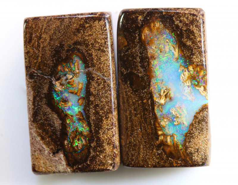 10.42 CTS BOULDER WOOD FOSSIL PAIR NC-7645