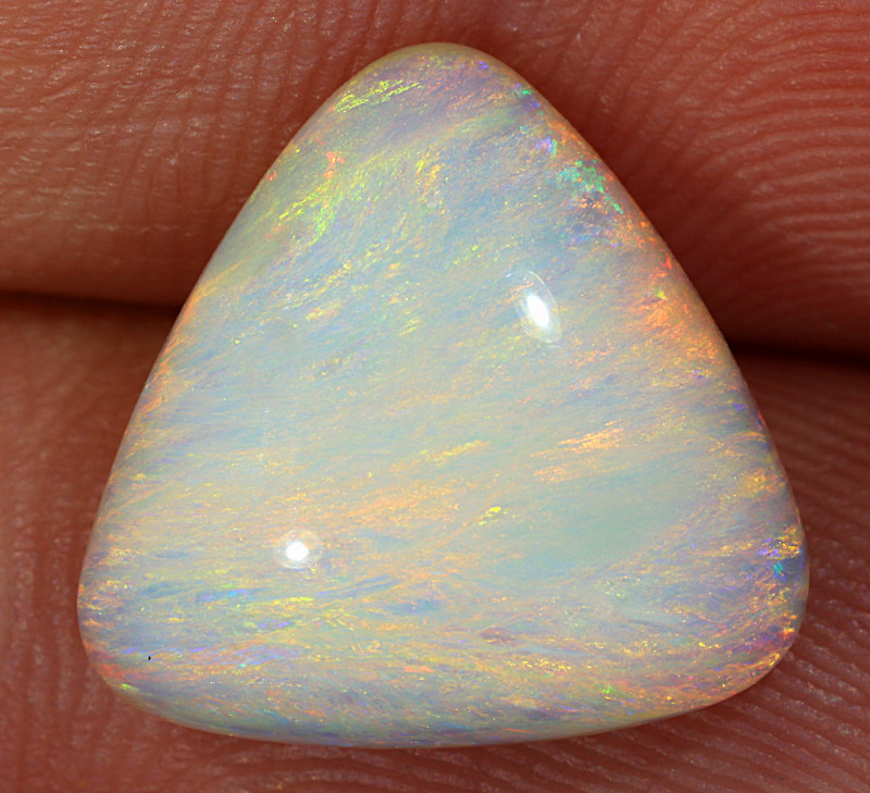 5.3ct 13x13mm Solid Lightning Ridge Light Opal [LO-2539]