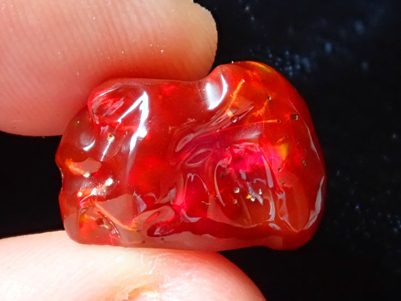10.3ct Natural Opal Rough Mexican Fire Opal