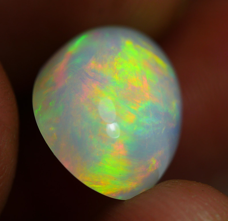 7.215 CRT GORGEUS BROADFLASH FLORAL FIRE WELO OPAL-