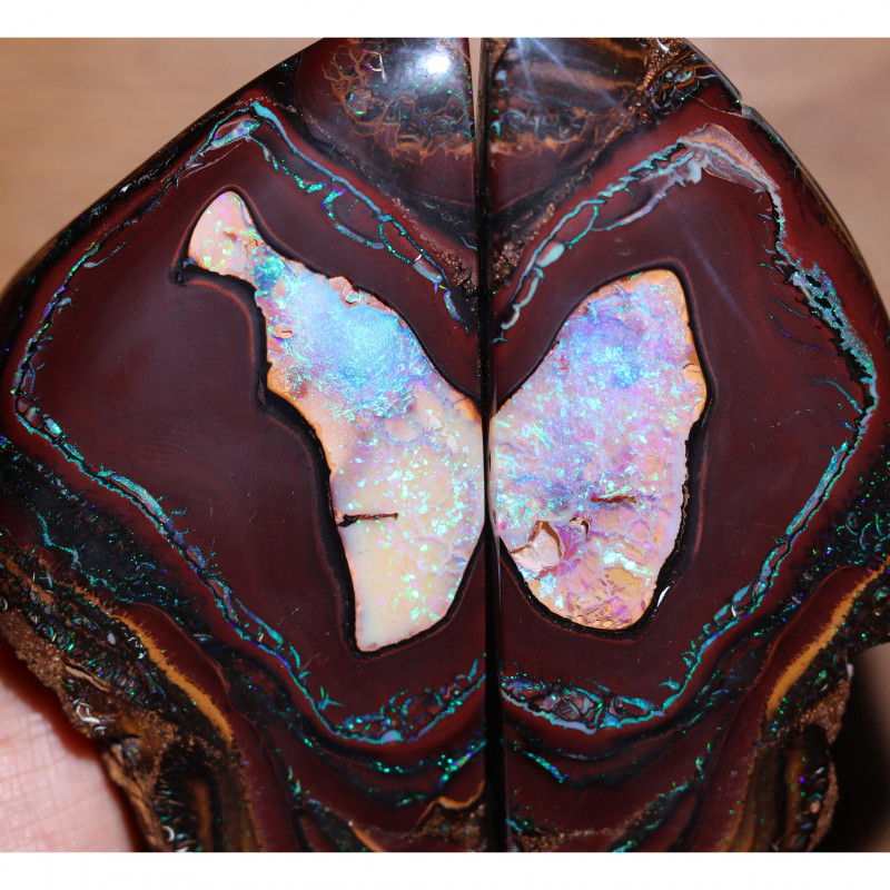 2520.00 CTS WELL POLISHED BOULDER OPAL PAIR-[SEDA222]