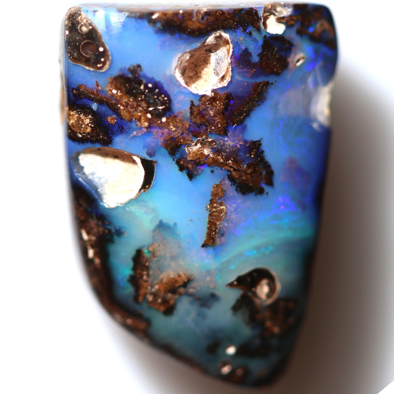 15.60 CTS DRILLED BOULDER OPAL -WELL POLISHED [BMA9749]