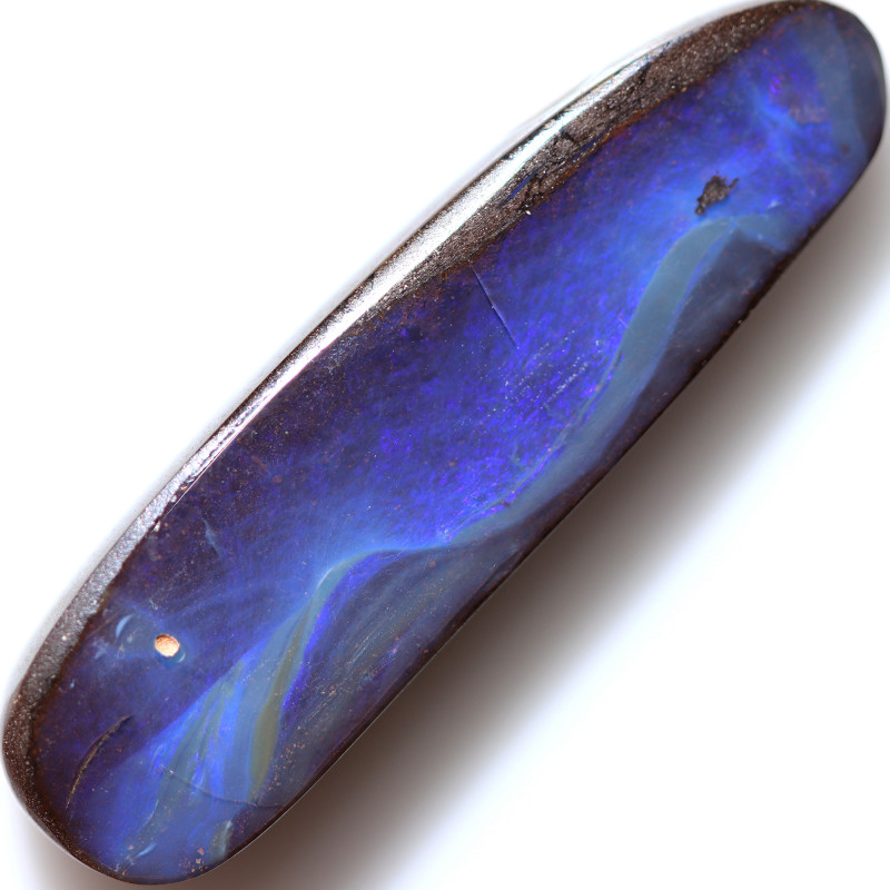 28.95 CTS DRILLED BOULDER OPAL -WELL POLISHED [BMA9760]