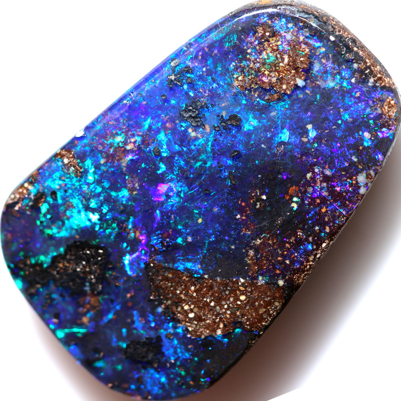 34.00 CTS DRILLED BOULDER OPAL -WELL POLISHED [BMA9766]